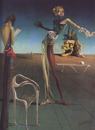previous salvador dali wallpaper. Woman With Head Of Roses