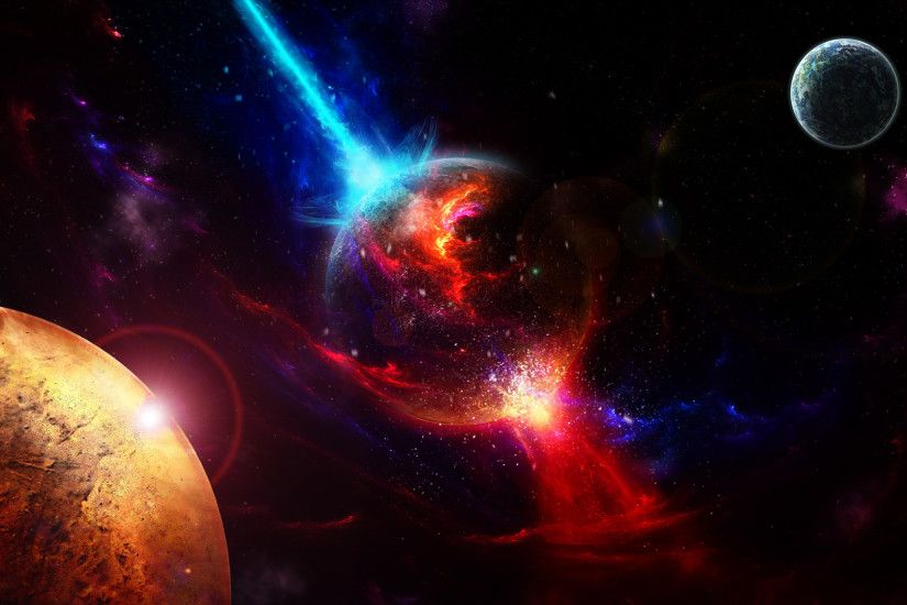 ... Background Full HD 1080p. 1920x1080 Wallpaper space, planets, takeoff,  explosion