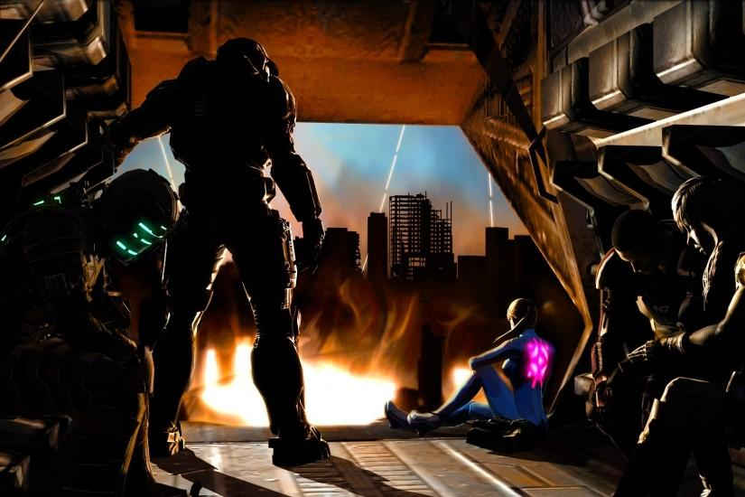 Samus Aran even Master Chief heroes Isaac Clarke lightning crossovers  Commander Shepard scared wallpaper | 1920x1080 | 216678 | WallpaperUP