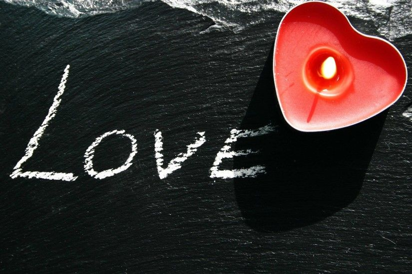 Wallpaper Love Heart Candle