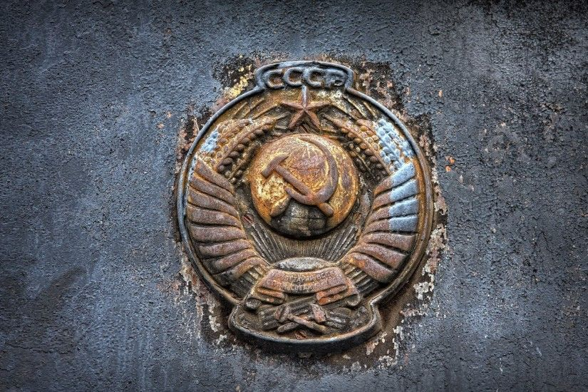 soviet union coat of arms rust