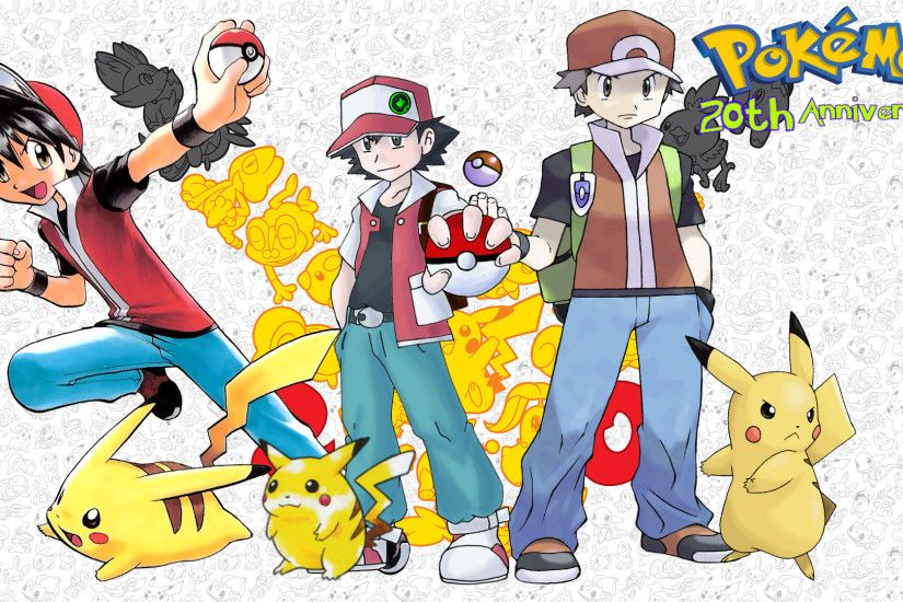 ... Pokemon 20th Anniversary PKMN Trainer Red by MattPlaysVG