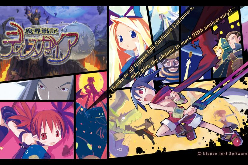 You're welcome Nippon Ichi, and thank you for sticking to your guns for  twenty years.