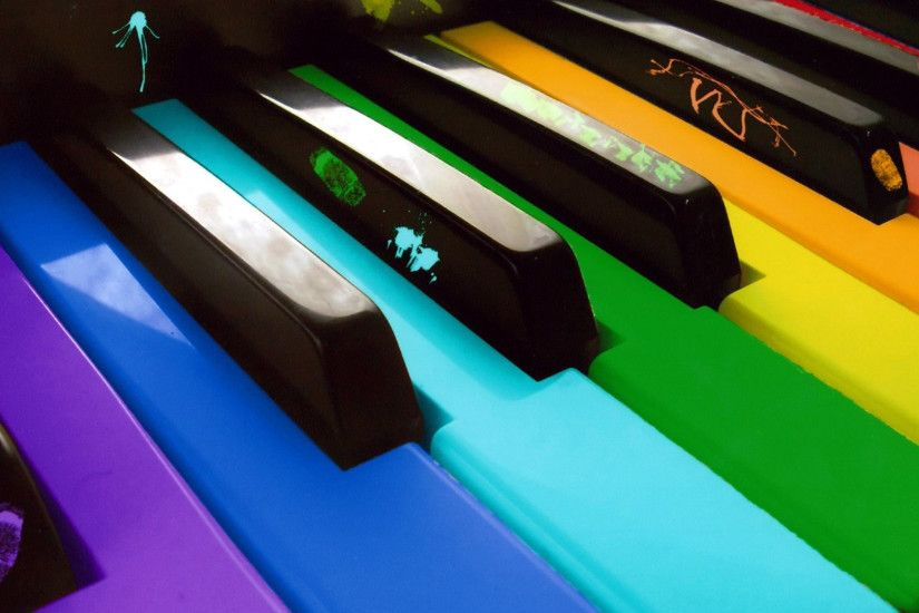Colorful keys on the piano Music HD desktop wallpaper, Piano wallpaper, Key  wallpaper - Music no.