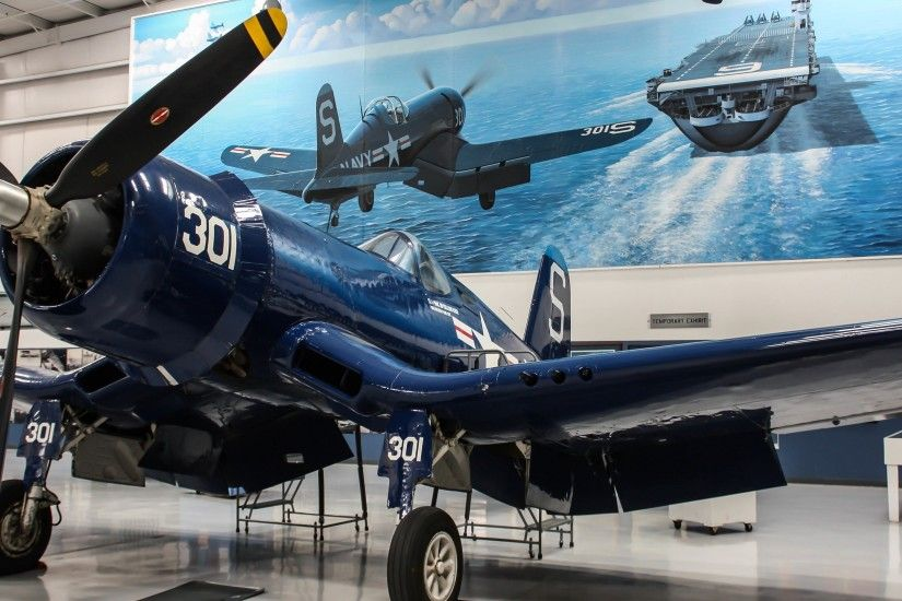Vought F4u Corsair Aircraft Warplane Museum Wallpaper