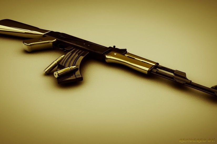 ... AK-47 Wallpaper by impaxalpa