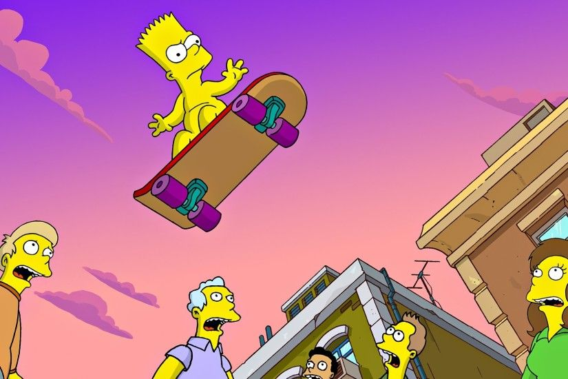 The Simpsons, Bart Simpson, Skateboard Wallpapers HD / Desktop and Mobile  Backgrounds