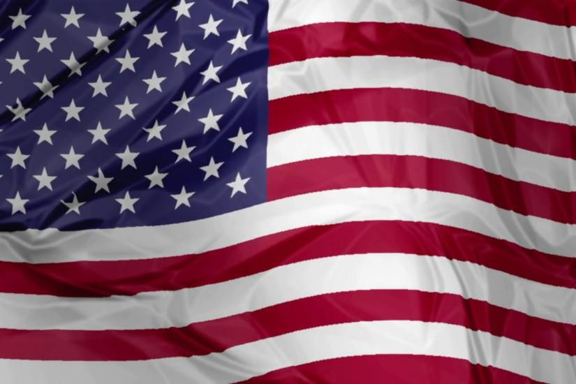 3D waving American flag background with fifty stars and red white stripes,  America US Motion Background - VideoBlocks