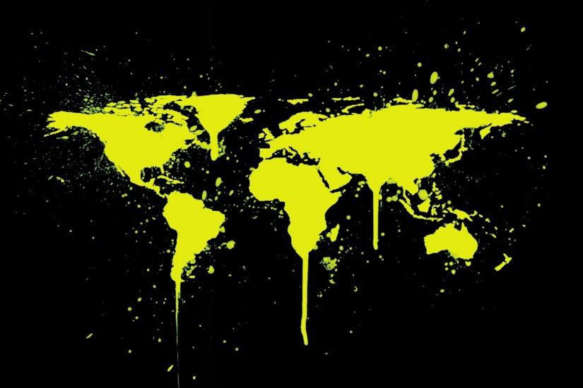 world map · spray paint · simple background
