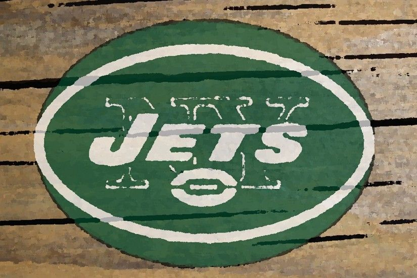 new york jets logo painted on wood