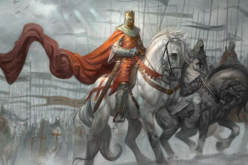 Richard the Lionheart leads Templar Knights during the Third Crusade