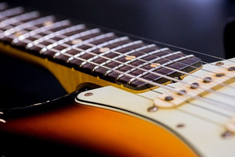 Preview wallpaper guitar, strings, neck 1920x1080