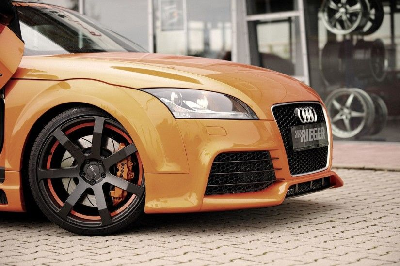 Hd Orange Audi Tt Background Pictures Wallpaper Download Car Full Size