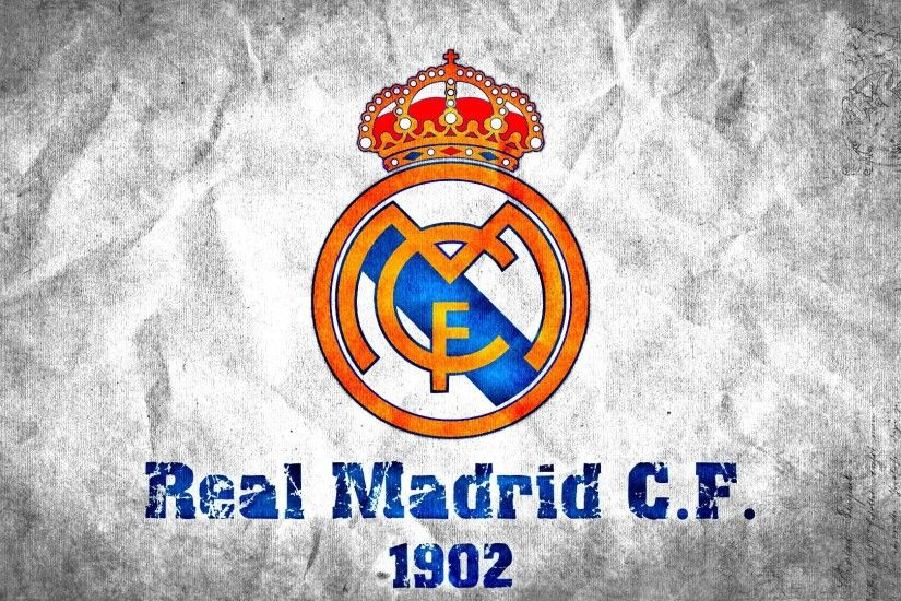 real madrid logo widescreen wallpaper