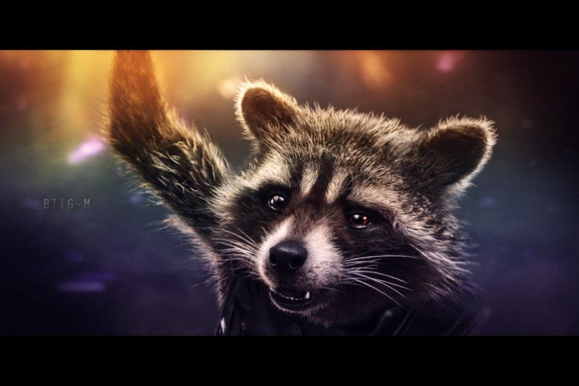 ... Rocket Raccoon wallpaper (9) by BiigM