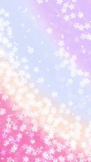 Japanese style glitter cute iPhone wallpaper