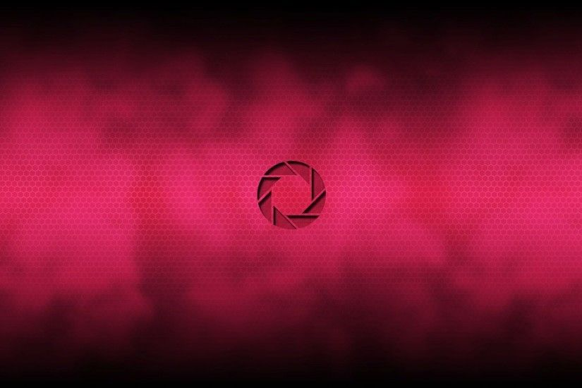 Logo Aperture Science, red background