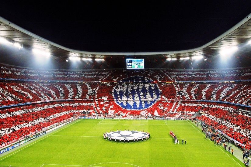 Allianz Arena, Stadium, FC Bayern, Bayern Munchen, Fans, Champions League,  Soccer Pitches, Night Wallpapers HD / Desktop and Mobile Backgrounds