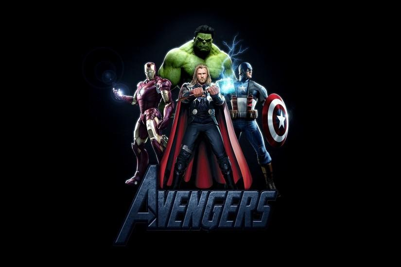 Avengers movie logo HD wallpapers.