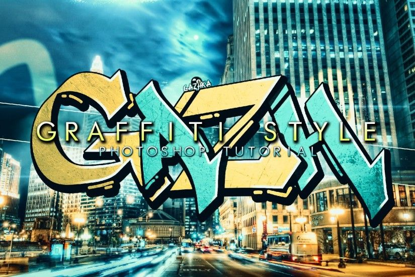GazhKa: Photoshop Tutorial - Graffiti Wallpaper Style - Tutorial HD