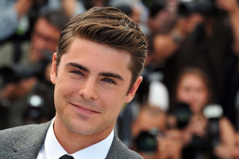 Preview wallpaper zac efron, actor, jacket, tie, smile 1920x1080