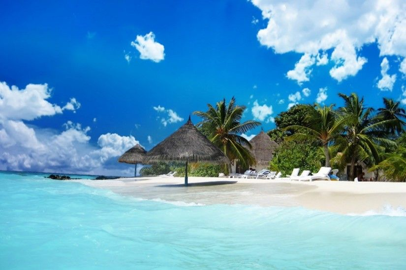 Paradise On The Beach Wallpaper