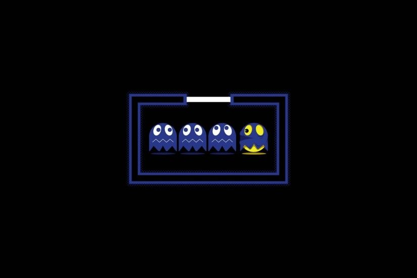 Cartoons abstract video games ghosts solid Pac-Man simplistic simple  wallpaper | 1920x1080 | 218494 | WallpaperUP