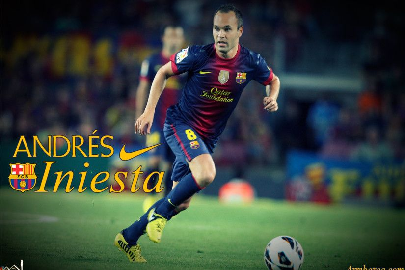 The player of Barcelona Andres Iniesta