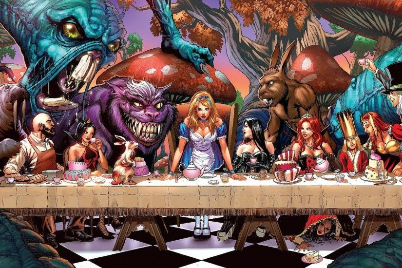 Grimm Fairy Tales: Alice In Wonderland Computer Wallpapers .