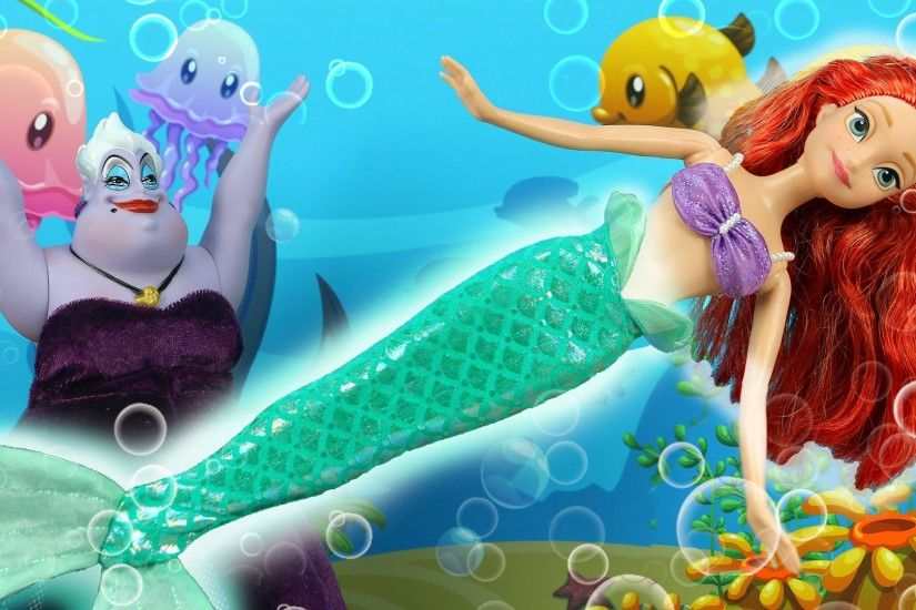 The Little Mermaid Mini Movie Stars Anna as Ariel. Ursula Turns Ariel into  a Girl. DisneyToysFan - YouTube