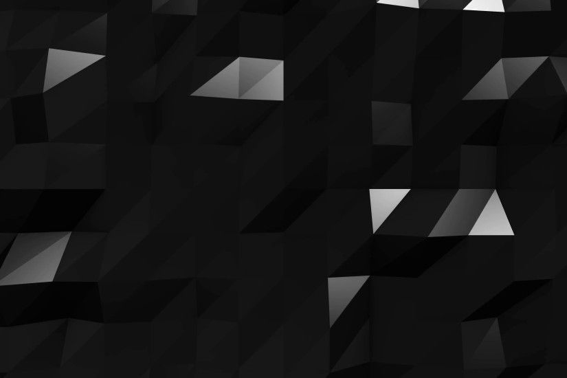 Subscription Library 4k Black Low Poly Abstract Background. 3d polygonal  animation