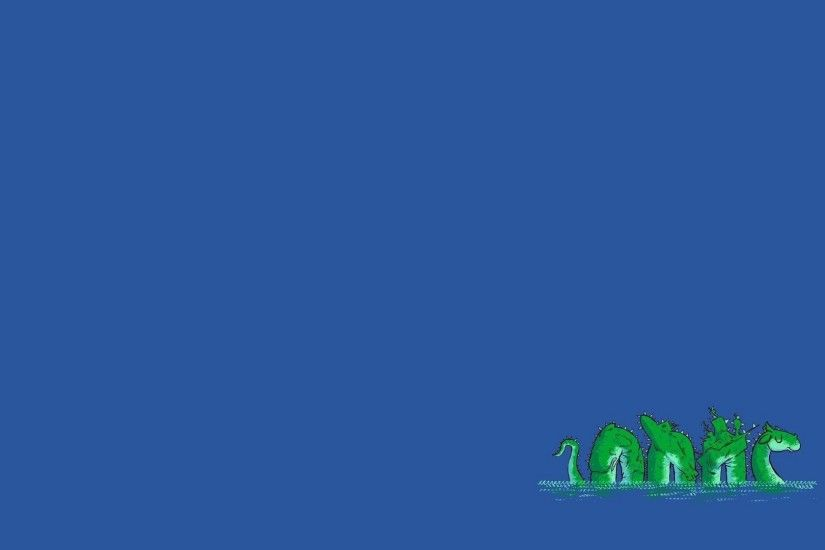 Loch Ness Monster, Minimalism, Blue background Wallpapers HD / Desktop and  Mobile Backgrounds