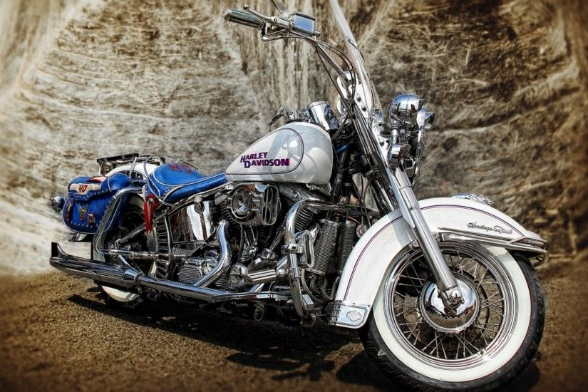 Preview wallpaper harley-davidson, hdr, motorcycle 1920x1080