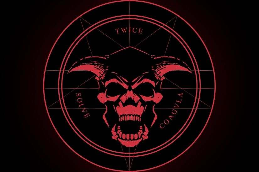 General 2920x1643 skull demon Latin horned pentagram Satanism devils satanic  evil Doom (game)