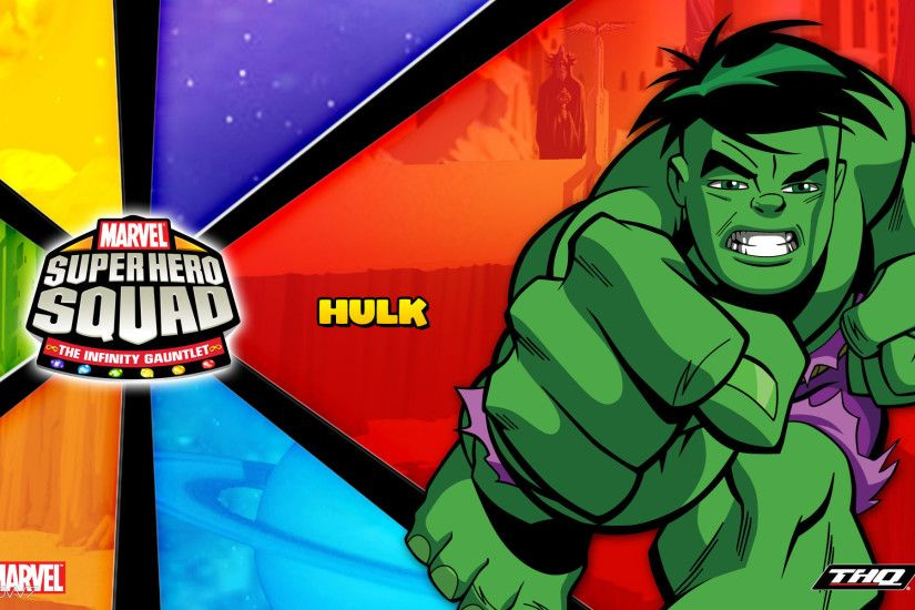 marvel super hero squad the infinity gauntlet hulk widescreen wallpaper