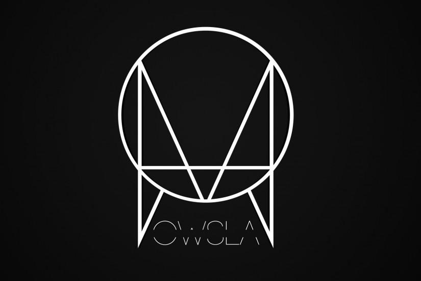 Preview wallpaper owsla, skrillex, label, logo, black 1920x1080