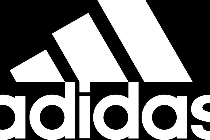 Preview wallpaper adidas, black white, logo, brand, letters 1920x1080