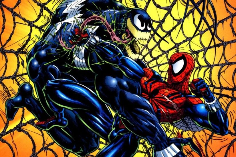 spiderman vs venom wallpaper