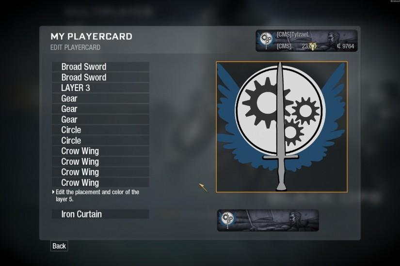 My emblem in Call of Duty: Black Ops. (Brotherhood of Steel logo) ...