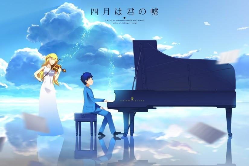 your lie in april wallpaper 2879x1207 smartphone