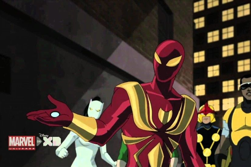 """Flight of the Iron Spider"" Clip - The Ultimate Spider-Man Marvel Universe  - YouTube"