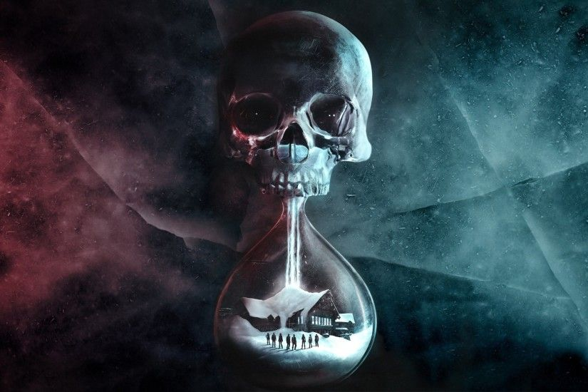 people, Digital Art, Hourglasses, Skull, Until Dawn, Video Games, House,  Snow Wallpapers HD / Desktop and Mobile Backgrounds
