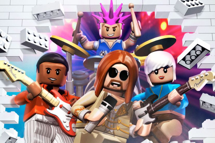 Free Lego Rock Band Wallpaper in 1920x1200