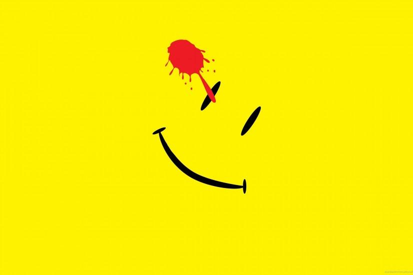 Minimal Watchmen Smiley for 2560x1600