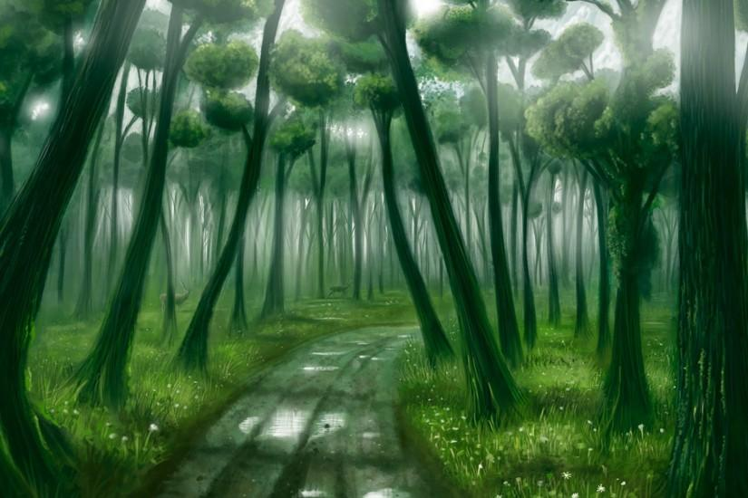 Fantasy Forest Desktop Backgrounds, wallpaper, Fantasy Forest .