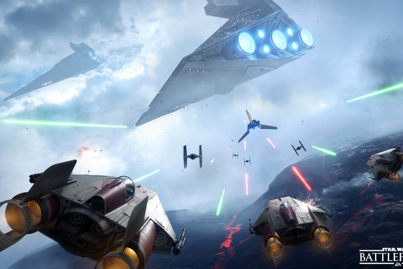 A-Wing VS Imperial Shuttle & Tie Fighters - Star Wars Battlefront 1920x1080  wallpaper