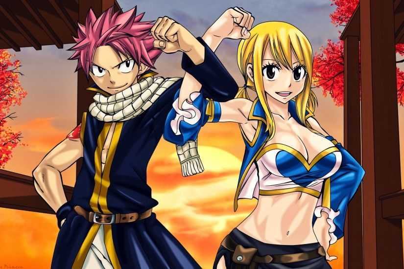 natsu dragneel and lucy heartfilia fairy tail anime hd wallpaper 1920x1200  7s