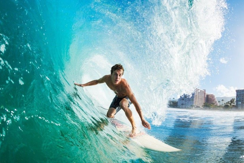 HD Surfing Surf Wave Wallpaper 1080p - HiReWallpapers 7595