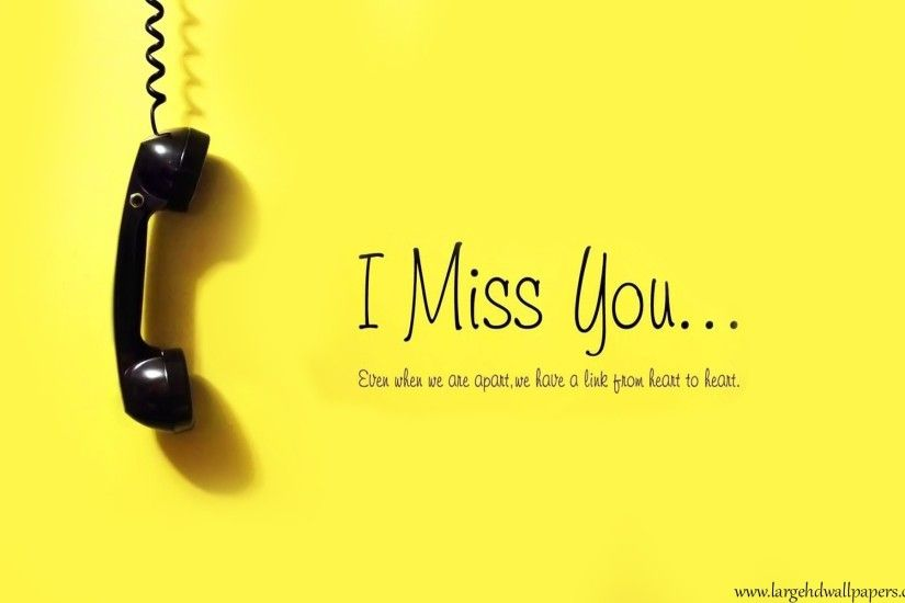 I Miss You Yellow Desktop Background Wallpapers