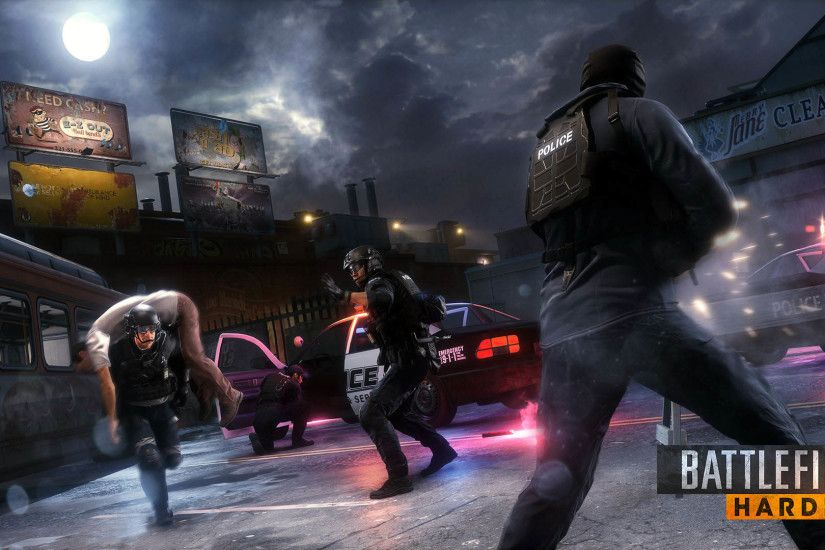 Police Rescuing Hostages, Battlefield Hardline 1920x1080 wallpaper